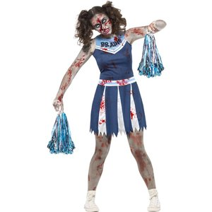 Zombiecheerleader maskeraddräkt