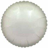 Folieballong - Rund Vit 45 cm