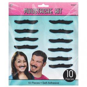 50-tals klassiska mustascher - 10 st