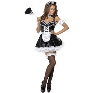 Flirtig French Maid maskeraddräkt