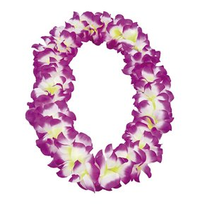 Hawaiikrans - Vit/lila
