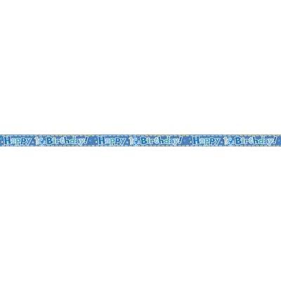 1-års banderoll Blå - 3.7 m