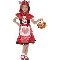 Rödluvan - maskeraddräkt barn med vargöron