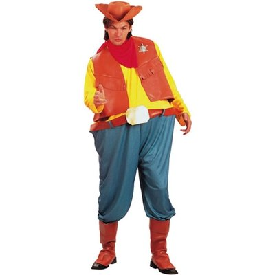 Cowboydräkt parodi - en smula rund