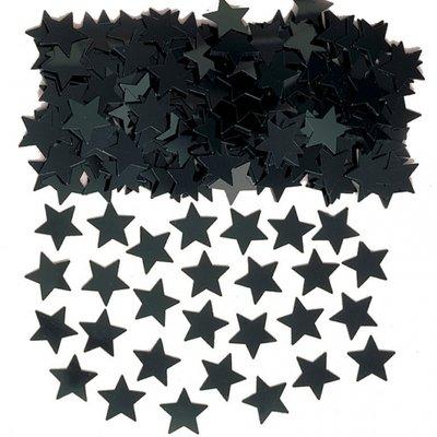 Stardust konfetti till bord/inbjudningar - svart - 14 g