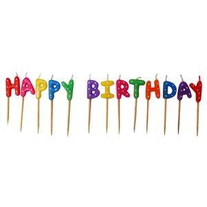 Happy birthday roliga tårtljus - 13 st