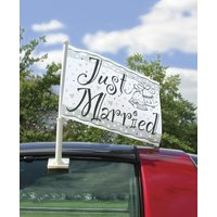 Bilflagga - Just married