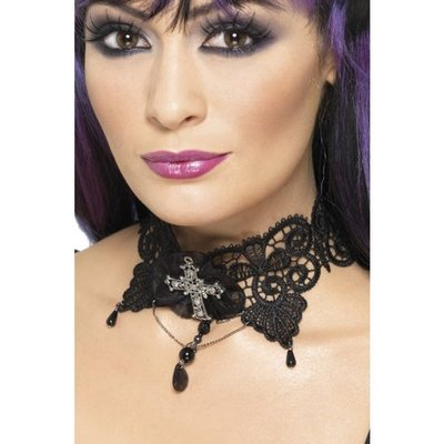 Goth spetschoker-halsband