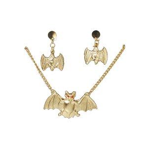 Fladdermus halsband och örhängen