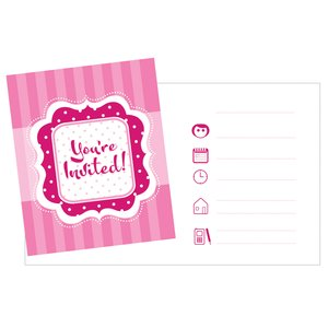 "Inbjudningskort rosa ""You're Invited"" - 8 st"