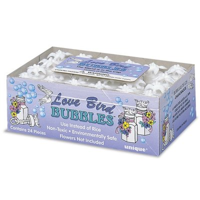 "Bröllopsbubblor \\\""White Love Bird\\\"" - 24 st"