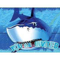 Inbjudningskort Blå haj