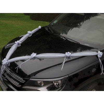 Bilgirlang med vita rosor - 180 cm 2 st