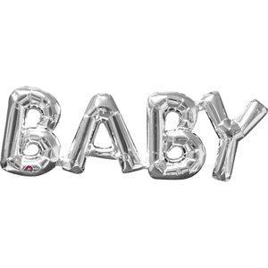 Folieballong - Baby - Silver