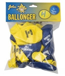 "Ballonger student 12\\\"" 24-p - Gul/blå"