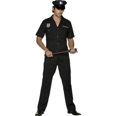 Het polis maskeraddräkt, svart