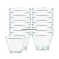Transparenta dricksglas i plast 142 ml - 88 st