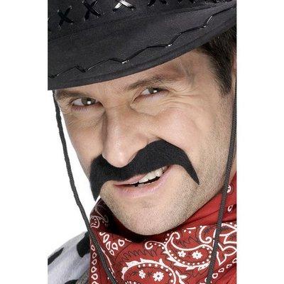 Cowboy mustasch svart