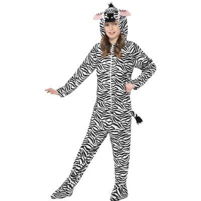 Zebra maskeraddräkt barn
