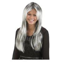 Lång grå peruk