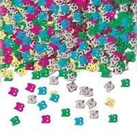 Bordskonfetti till 18-årsdagen flerfärgad - 14 g