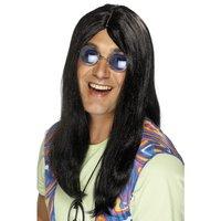 Neil Hippy peruk svart