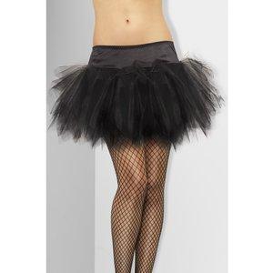 Fransad kjol svart