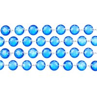 Kristallgirlang - Flera olika färger 100 cm