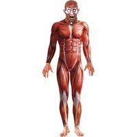 Anatomi-man maskeraddräkt