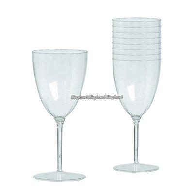 Transparenta vinglas i plast 227ml - 8 st