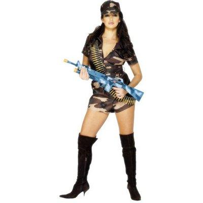 Het army lady maskeraddräkt