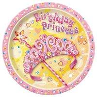 Tallrikar - Birthday princess 8 st - 23 cm 8 st