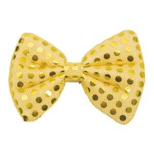 Fluga - Guld | Maskerad//Maskerad-accessoarer & rekvisita//Slipsar flugor & hängslen | Partyoutlet