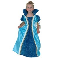 Blå Prinsessa maskeraddräkt 2-4 år