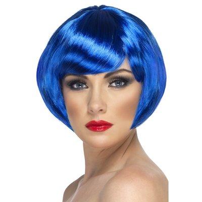 Kort page blå peruk