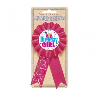 Födelsedagsbarn rosa-lila rosett