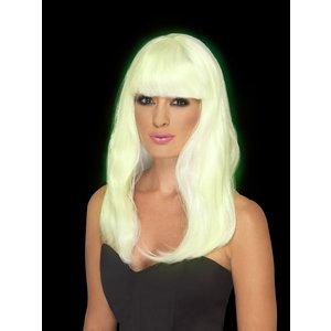 Självlysande peruk - Glam