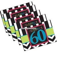 Inbjudningskort 60-årsfest - 8 st