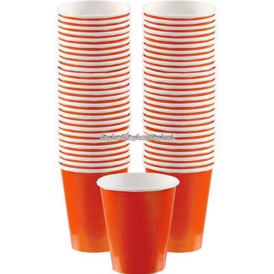 Orange kaffemuggar i papper - 340 ml - 40 st