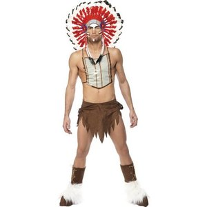Village People indian maskeraddräkt - Medium