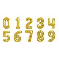 Sifferballonger - Guldfärgad folie - 41 cm