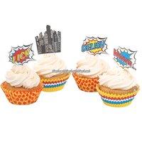 Pop Art Superhero Party - muffinsformar & dekorationer - 50 st
