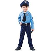 Polispojke maskeraddräkt 2-4 år