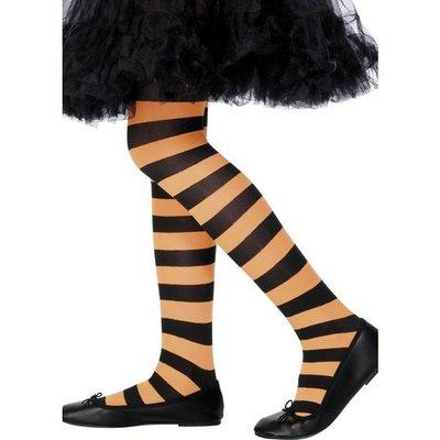 Tights randiga orange och svart barn