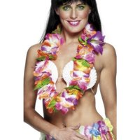 Stor hawaiiansk girlang - multifärgad