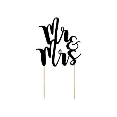 Tårtdekoration - Mr & Mrs