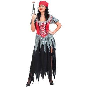 Piratkvinna - maskeraddräkt klänning