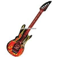 Uppblåsbar gitarr med flammor - 106cm
