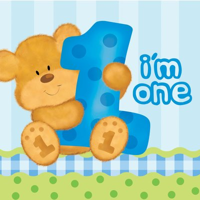 2-lagers pappersservetter - I am one - 16 st