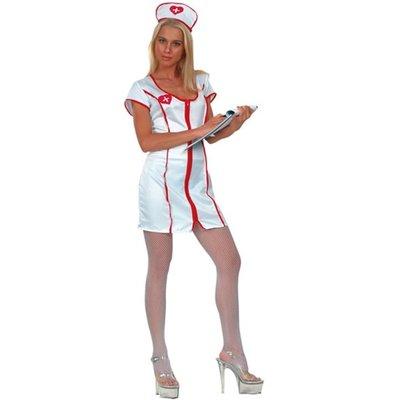 Sjuksköterska - maskeraddräkt (sidenimitation)